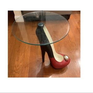 COPY - High Heel Shoe with Glass table top